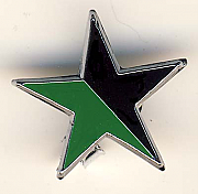 Black and Green star pin