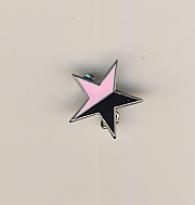 Pink and Black Star pin